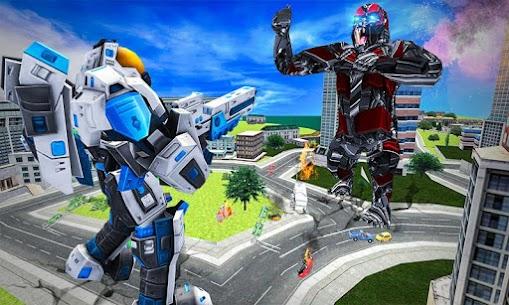 Futuristic Robot Transforming Gorilla Attack City 3