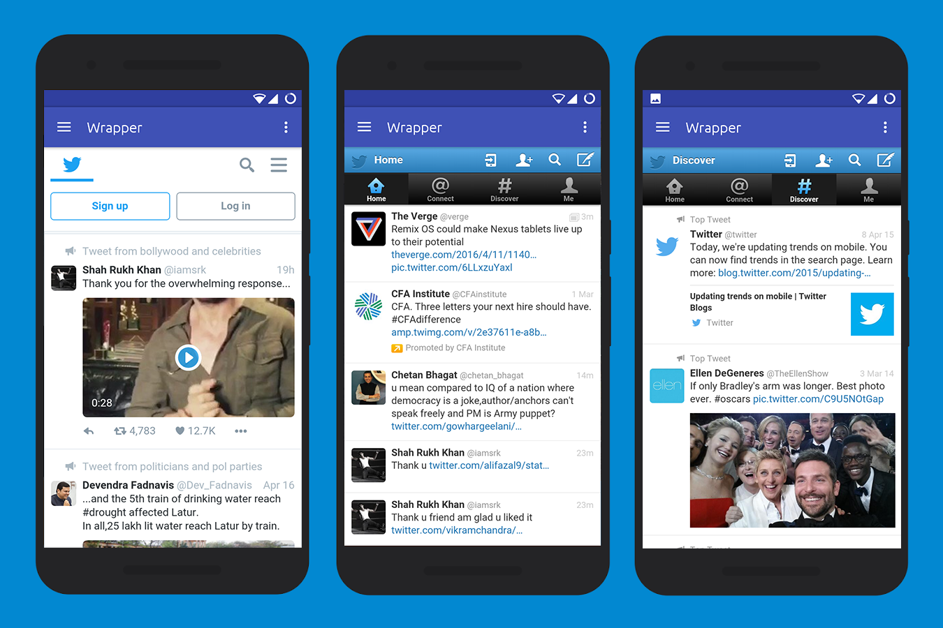 Wrapper for Social Networks- screenshot