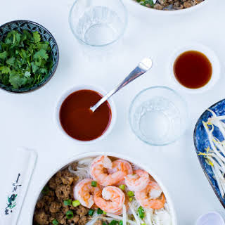 Kuy Teav (Cambodian Pork and Seafood Noodle Soup).