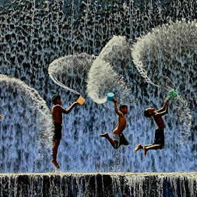 Joyful Emotions by Agoes Antara - Babies & Children Children Candids ( water, candid, kids, people, pcwemotions )
