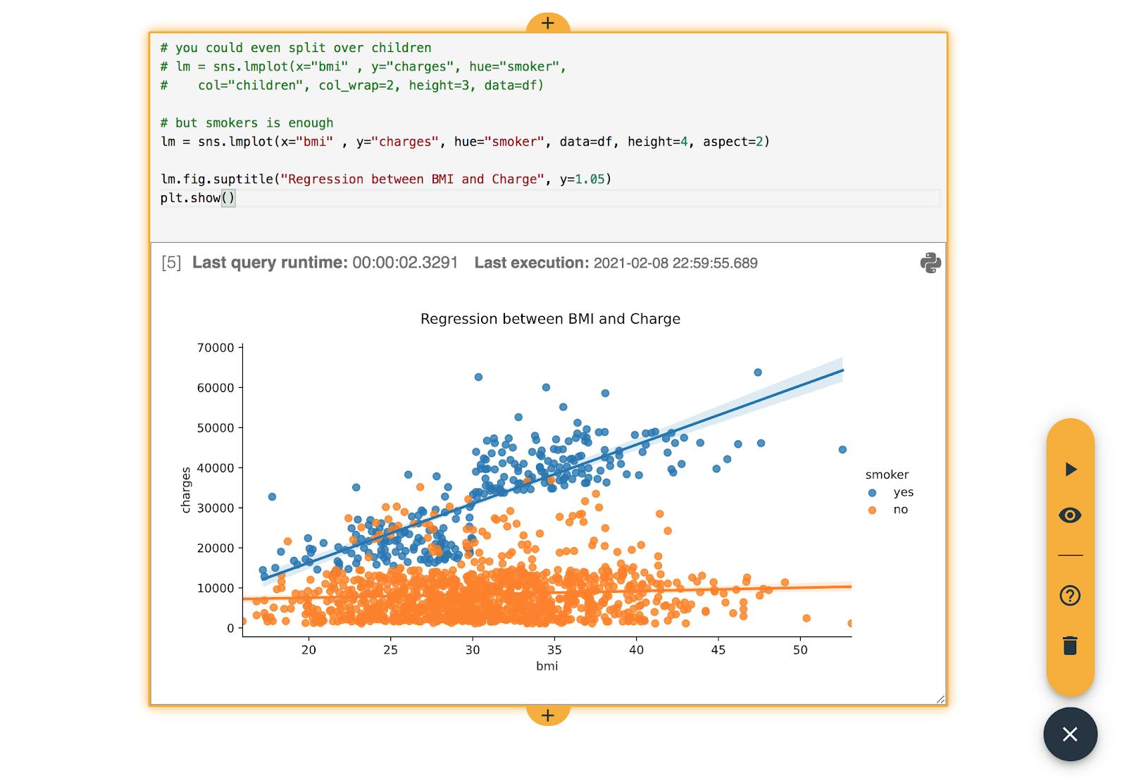 data visualization in the data science workbook