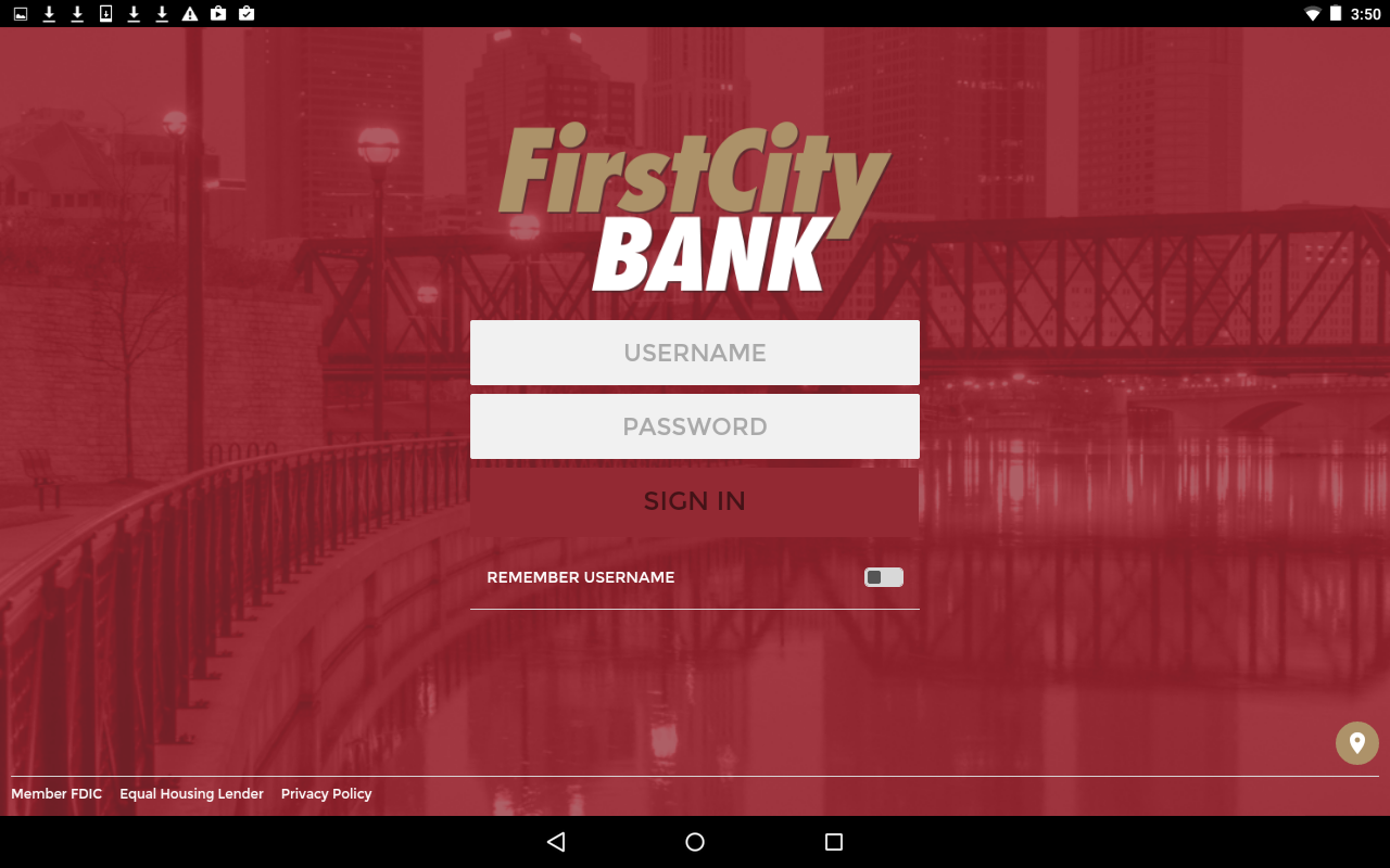 My First City Bank Mobile- screenshot
