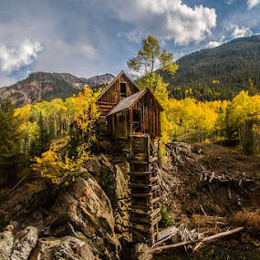 The Crystal Mill by James Pion - Buildings & Architecture Public & Historical ( the crystal mill, fall, colorado )