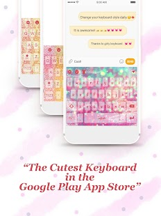 Pink Glitter Keyboard Theme for Girls - náhled