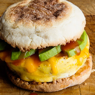 Microwave Egg Sandwich With Cheddar and Avocado