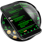 SMS Messages Neon Led Green Theme icon