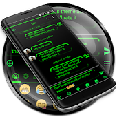 SMS Messages Neon Led Green Theme