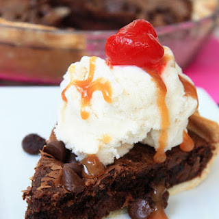 Chocolate Chip Brownie Ice Cream Pie