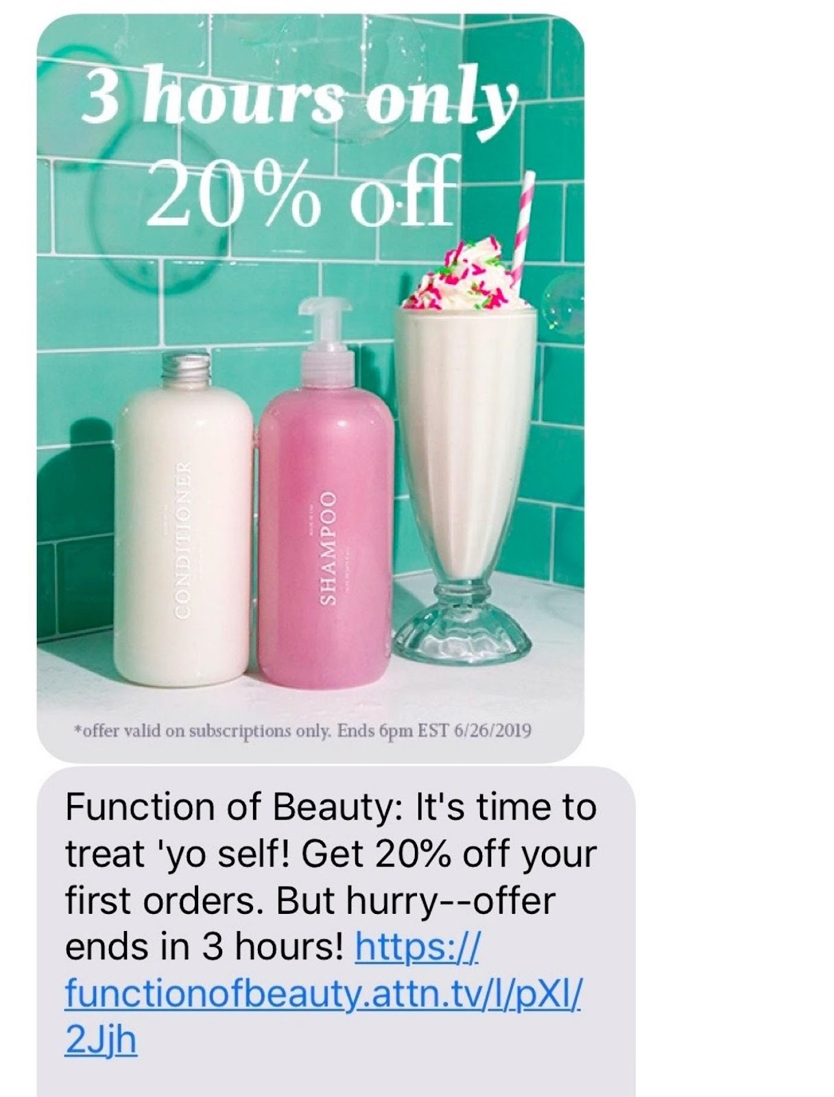 example of text offer
