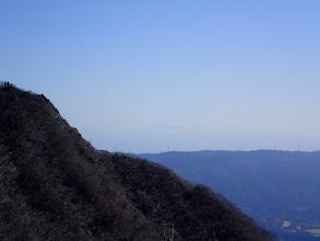 恵那山が微かに見える