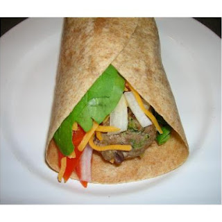 Turkey & Veggie Burger Wraps.