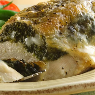 Stuffed Chicken Breasts with Gouda and Spinach.