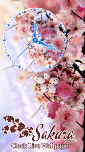 Sakura Clock Live Wallpaper HD ? - náhled