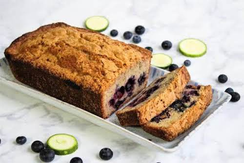 """Blueberry Zucchini Bread""""Wonderful zucchini bread! My family loves it. Great for snacking,..."""
