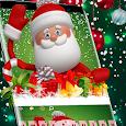 Cute Christmas man 2018 icon