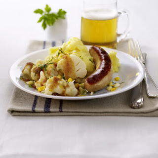 Sausage and Mashed Potatoes with Cauliflower.
