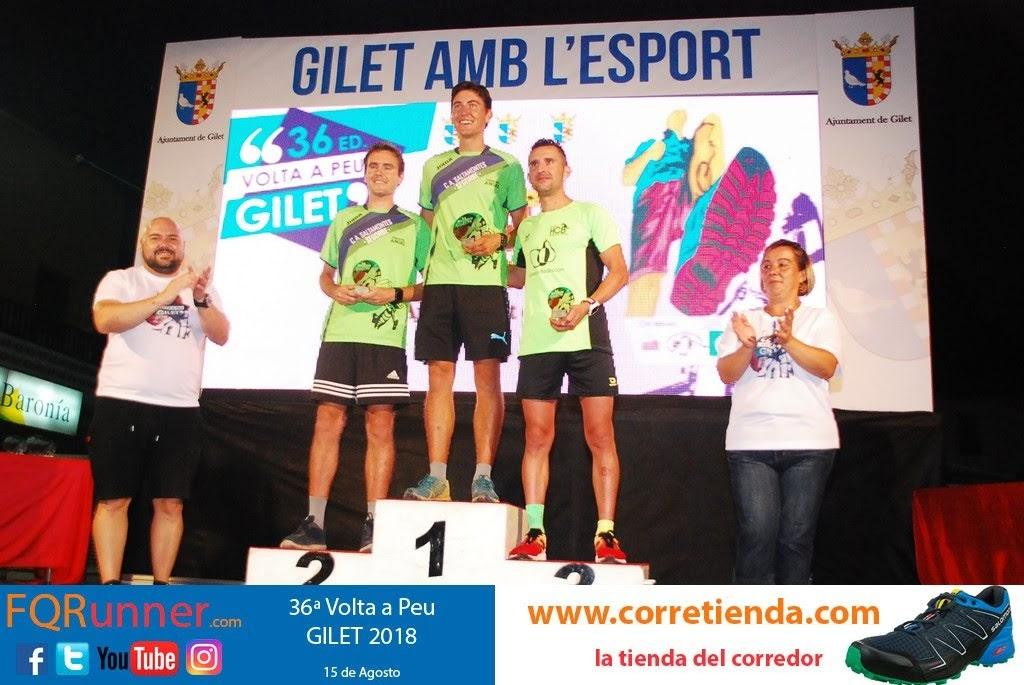 Podium masculino Volta a Peu Gilet 2018