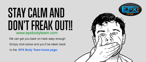 Photo: EPX Body 404 page - Stay Calm and Don't Freak Out!
