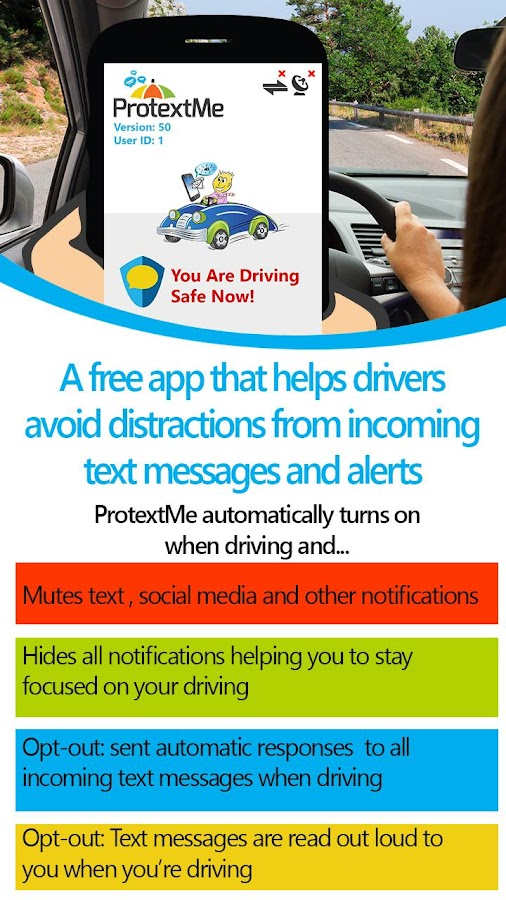 ProtextMe Safe Driving FREE- screenshot