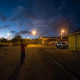 Quebrada grande la noche by Annette Flottwell - City,  Street & Park  City Parks ( quebrada grande, la noche,  )