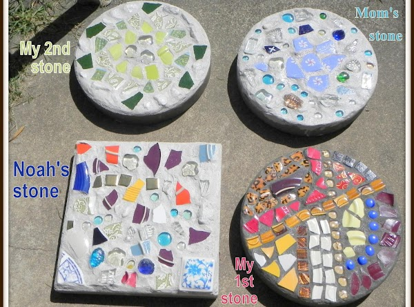 Mosaic Stepping Stones Recipe