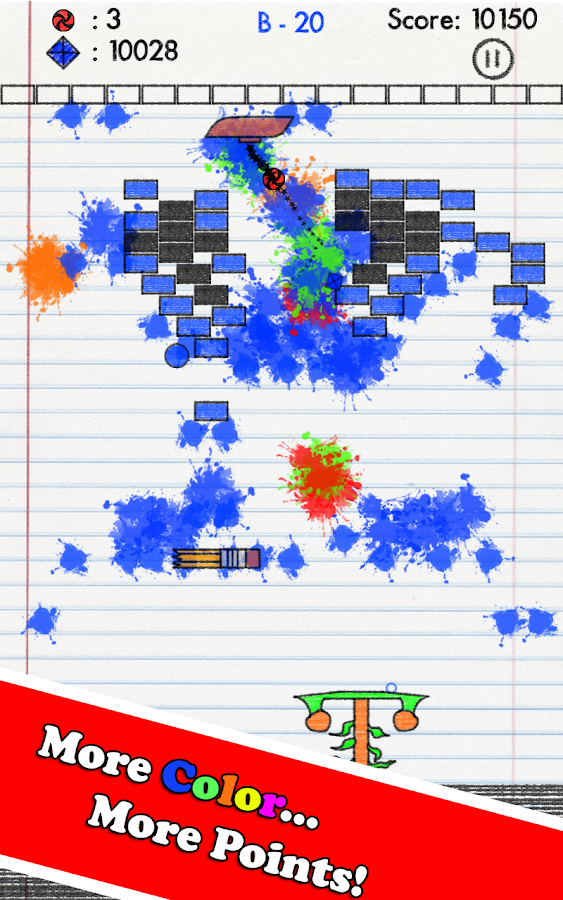 Sketchpad Escape - Brick Break- screenshot