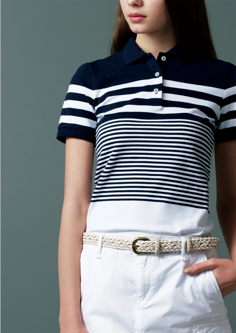 Photo: Do you know how polo shirts were originated?  The name of polo shirt was actually derived from the place of origin of the sport of polo. It was developed jointly by a French garment maker and a top-ranked tennis player at the beginning of 20th century and became the polo shirt of today.  Our Stretch Pique Short Sleeve Polo Shirt also has a long and fascinating history. We buttoned it up this summer by using high end Supima® cotton for extra softness, added UV-blocking function and stretchiness for the ease of movement. Color variations and refined designs like three front buttons and flat-cut collar shape up this garment to an attractive piece.  Yes, you can take all these for granted in just one polo shirt.