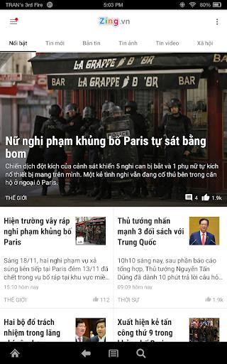 Zing.vn - Vietnam Daily News 20.09.01 Screenshots 7