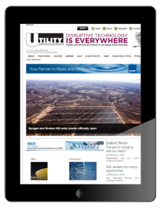 Utility magazine on an iPad