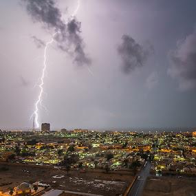 Thunder Storm by Ashraf Jandali - Landscapes Weather