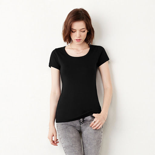 Bella Scoop Neck Cotton T-Shirt