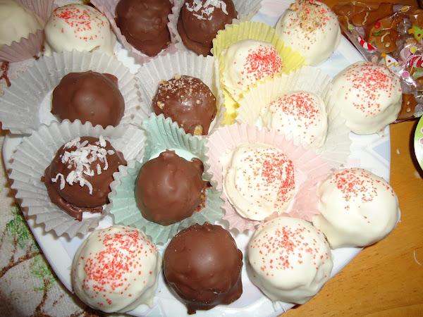 Chocolate-cherry Cake Truffles Recipe