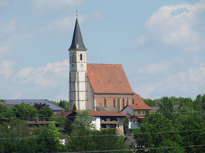Photo: Day 55 - Church in  Neuotting (On Opposite Bank)