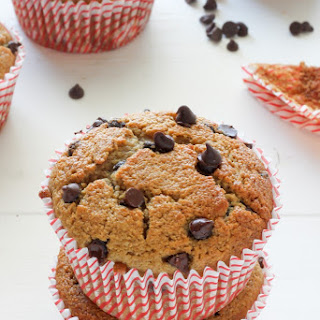 Healthy Bakery Style Chocolate Chip Muffins.