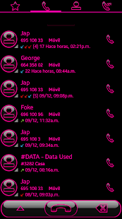 THEME SWIPE DIALER GLOW PINK - náhled