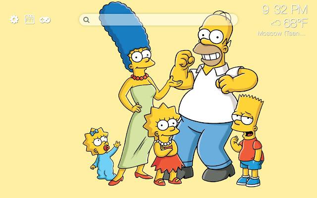 The Simpsons HD new free tab theme