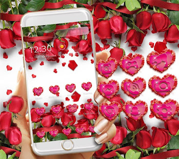 وردة حمراء موضوع خلفية حية تحميل Apk لعبة Android Lifestyle تم