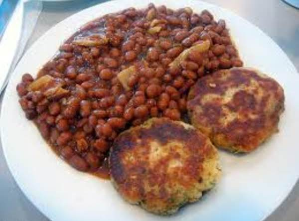 New England Fish Cakes With Beans N' Tartar Sauce Recipe