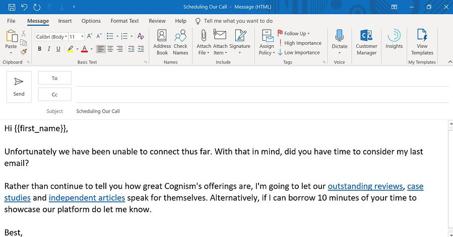 B2B email marketing examples