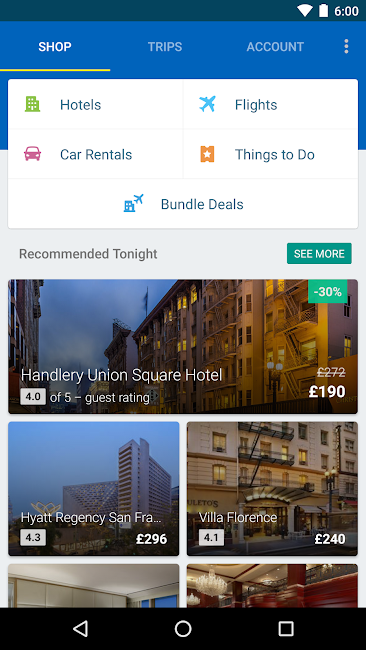 #8. Expedia Hotels, Flights & Cars (Android)