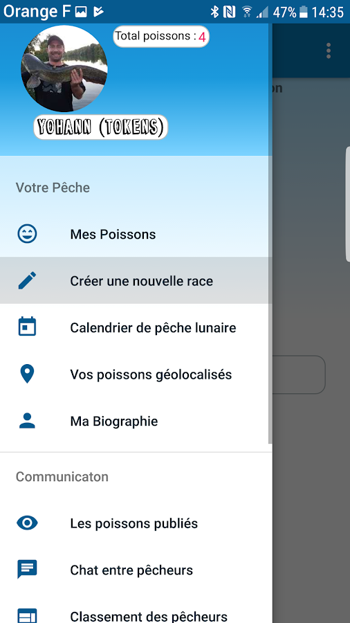 application pêche