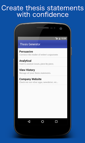 android Thesis Generator Screenshot 0