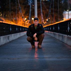 on the bridge by Matt  Glenn - People Portraits of Men