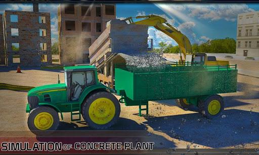 具体的な掘削機トラクターシム