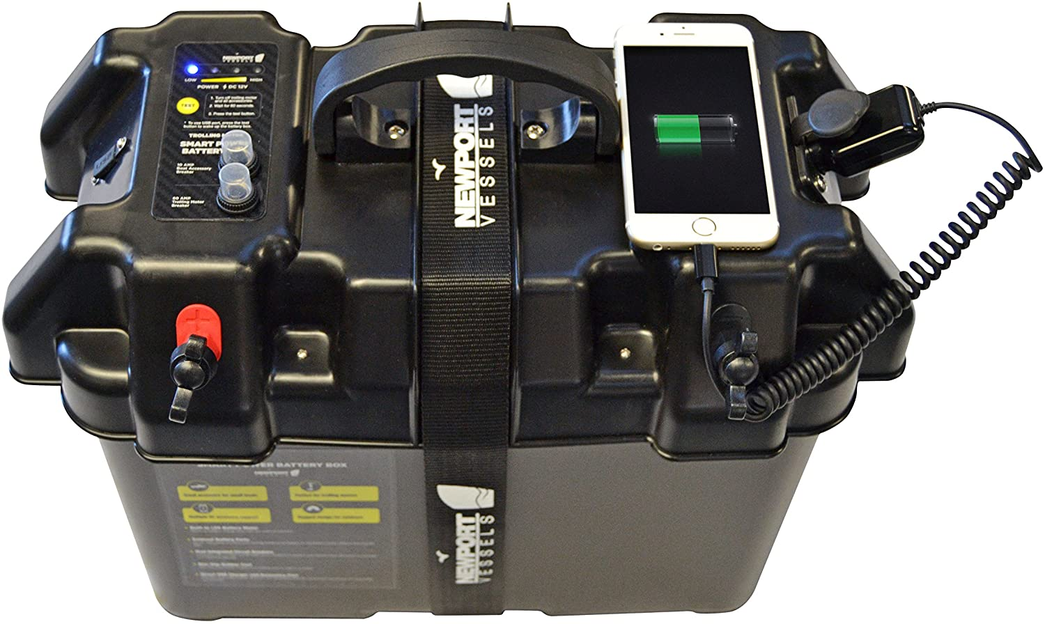 A Newport marine battery smart terminal cover is shown in this file photo.