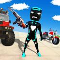 Vegas Neon Iron Stickman Rope Hero Crime Simulator icon