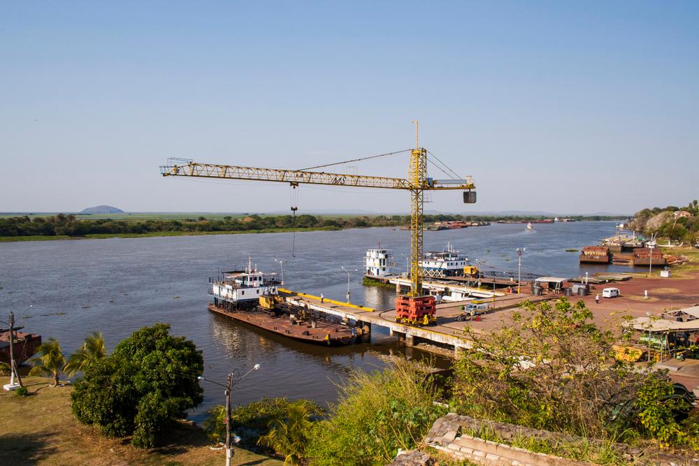 Porto de Corumbá no Mato Grosso do Sul