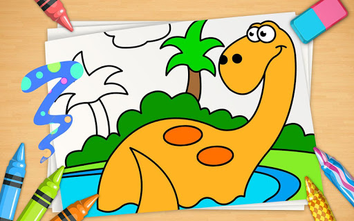 Kids Coloring Book - Dino Park