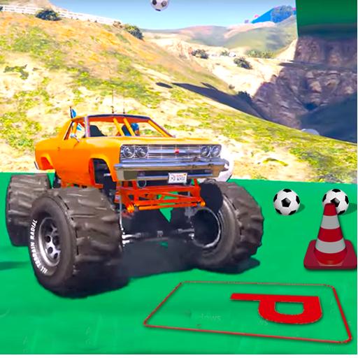 Superheroes Monster Parking: Blaze Racing Games