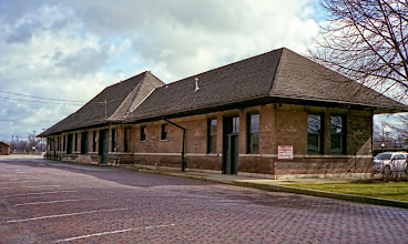 Photo: Former passenger and then freight depot for Illinois Central Champaign IL